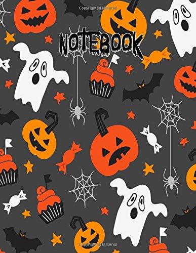 Notebook: Ghost Pumpkin Bat Cupcake Halloween Journal 8.5 x 11 (Fun Halloween Journals) (Volume 1)