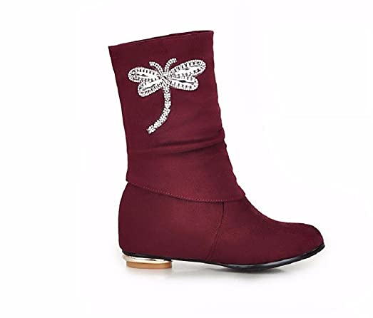 VULK Ladies Boot 2 cm higher within 3143 in the frosting and Bow Tie water drilling round head Leisure  B075V62SPQ