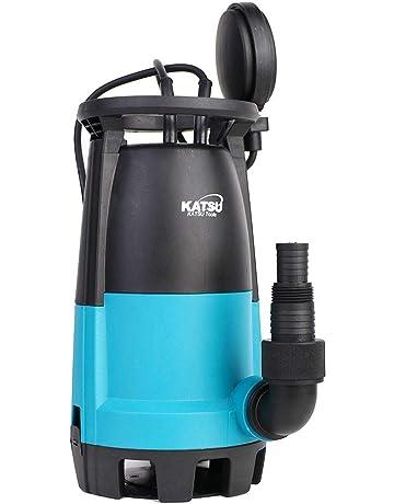 KATSU 151666E Bomba de jardín sucia sumergible de agua limpia 400W con 2 bases 2mm