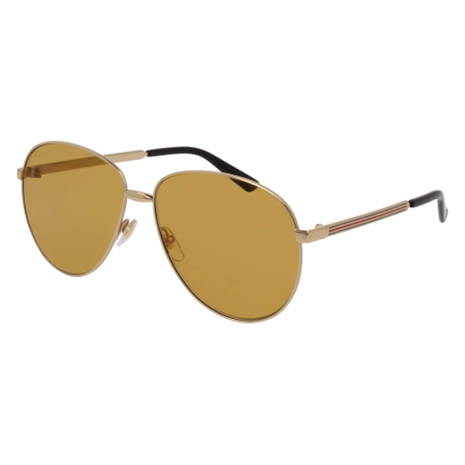 518593f9053 Amazon.com  Sunglasses Gucci GG 0138 S- 002 GOLD BROWN  Clothing