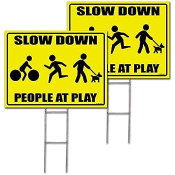 Amazon Com Slow Children At Play Warn Street Park Sign