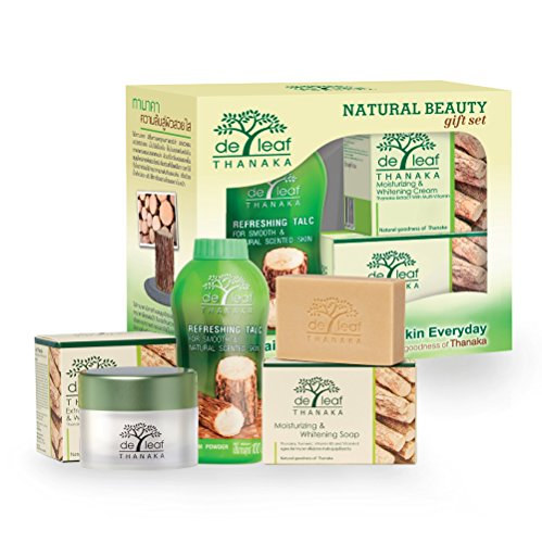 De Leaf Thanaka Natural Beauty Gift Set, Talc Powder Gentle