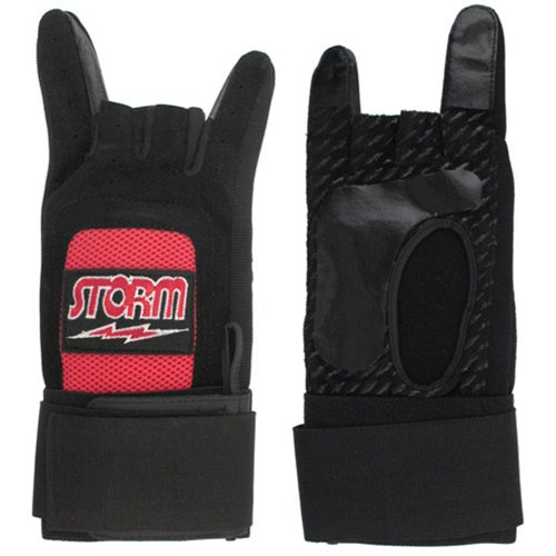 Storm Xtra Grip Plus Glove Black/Red- Left Hand (X-Large) by Storm Bowling Products