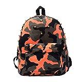 Lesuire Rivets Camouflage Backpack Stylish School Bag Travel Shoulder Bag for Girls and Boys Review