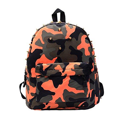 Lesuire Rivets Camouflage Backpack Stylish School Bag Travel Shoulder Bag for Girls and Boys