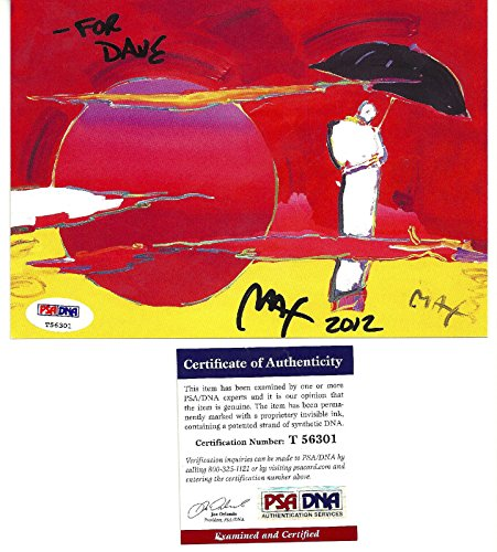 Peter Max Signed - Peter Max Signed Autographed Auto 5x6 Postcard PSA DNA T56301