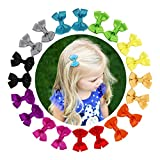 """Shemay 10 Pairs 2"""" Tiny Boutique Grosgrain Ribbon Hair Bows Alligator Clips Barrettes"""