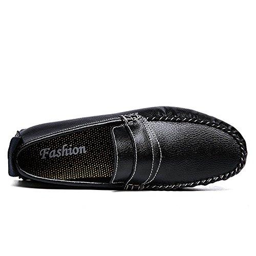 2018 Conception Noble De La Mode Masculine Subvention Canoë Penny Loafer Feuillet Sur Les Mocassins Chaussures De Sport Noir
