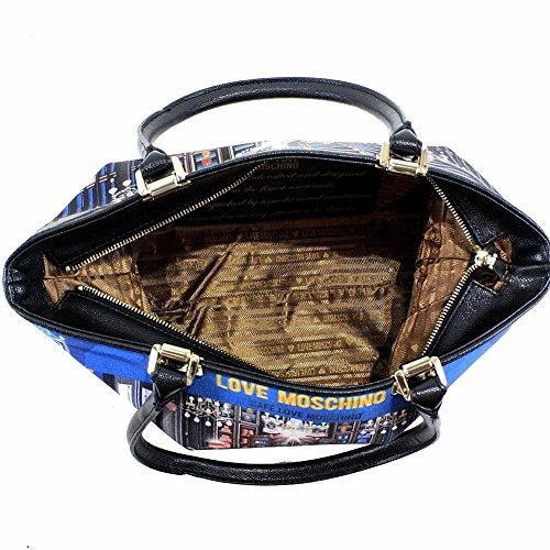 Love Moschino Women's Cafe Printed Large Fabric Satchel Handbag by Love Moschino (Image #4)