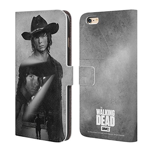 Price comparison product image Official AMC The Walking Dead Carl Double Exposure Leather Book Wallet Case Cover For Apple iPhone 6 Plus / 6s Plus