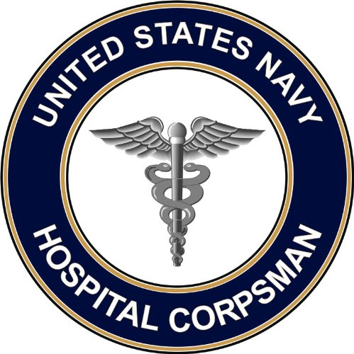 Magnet US Navy Hospital Corpsman HM Military Veteran Served Vinyl Magnet Car Fridge Locker Metal Decal 3.8