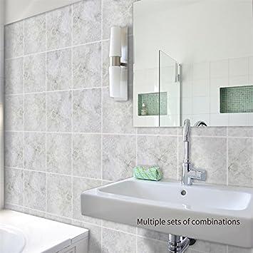 Amazoncom Amazingwall Backsplash Peel And Stick Tile Sticker