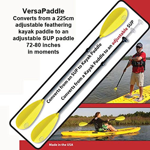Accent Versapaddle 5pc Breakdown 225cm Kayak & Adjustable 72-80'' SUP Paddle in 1 by Canoe
