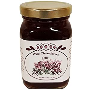 Montana Chokecherry Jelly Dessert Breakfast - Essentials 9 oz Fruit Grown & Hand Picked in the Wild from Bounty Foods - Gluten-Free Non-GMO for Toppings - Fillings - Craft Bread (Chk Jly 9oz)