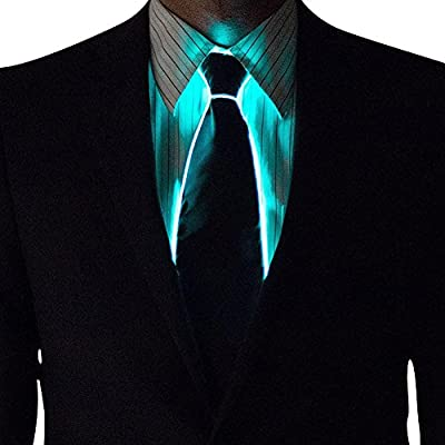 Motto.H Corbata de LED 10 Colores Light Up Tie LED Glow Dark ...