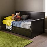 """South Shore Summer Breeze Twin Day Bed with Storage (39""""), Chocolate"""