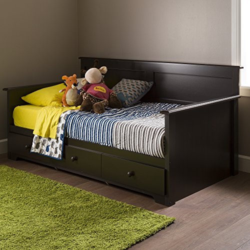 South Shore 10079 Daybed with 3 Storage Drawers, Chocolate, 39
