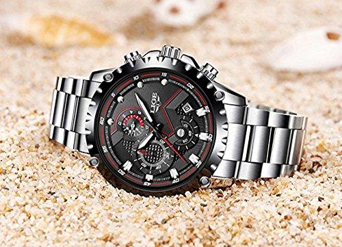 Watch Men Sport Quartz Clock Mens Watches Top Brand Luxury Full Steel Business Waterproof Watch by LIGE (Image #4)
