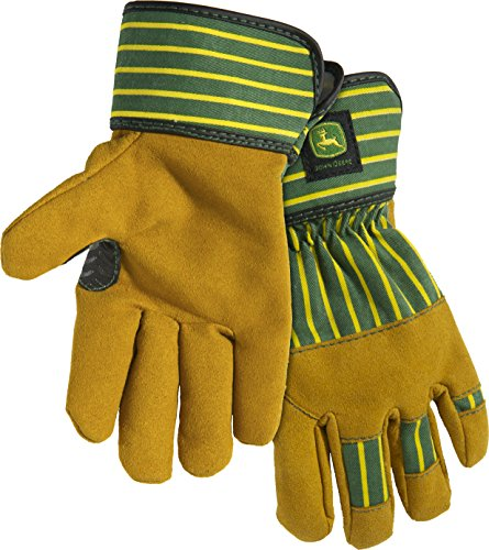 Synthetic Leather Palm Gloves (West Chester John Deere JD00024 Synthetic Leather Palm Work Gloves: Youth, 1 Pair)