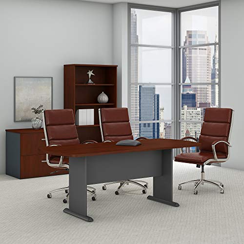 Bush Business Furniture Series A & C 79W x 34D Racetrack Oval Conference Table in Hansen Cherry by Bush Business Furniture (Image #2)