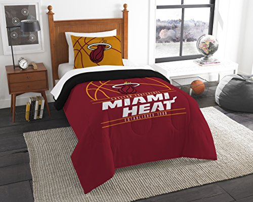 (The Northwest Company Officially Licensed NBA Miami Heat Reverse Slam Full/Queen Comforter and 2 Sham Set)