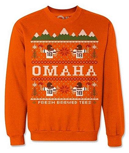 Peyton Manning Gear - Peyton Manning Denver Broncos Ugly Sweater Sweatshirt Large