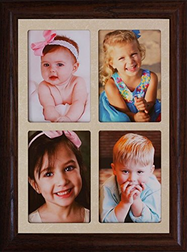 "2x3 Wallet Window Frame ~ Holds 4-Portrait 2""x3"" Wallet Phot"