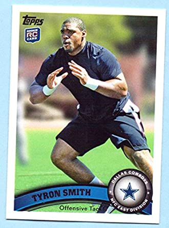 2176fc17 Amazon.com: Tyron Smith 2011 Topps Rookie #69 - Dallas Cowboys ...