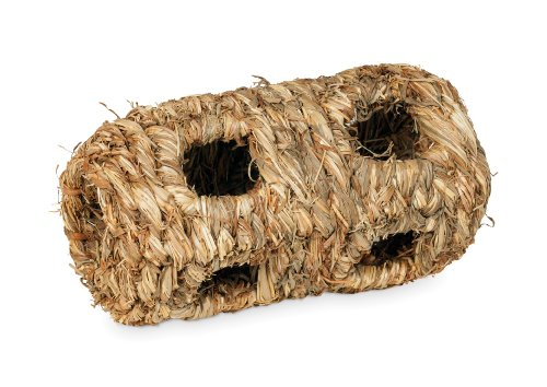 Prevue Hendryx 1092 Nature's Hideaway Grass Tunnel Toy, (Natural Tunnel)