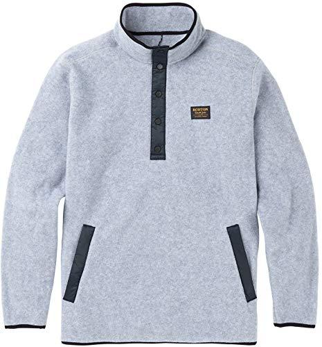 Burton Men's Hearth Fleece Pullover, Gray Heather, Medium