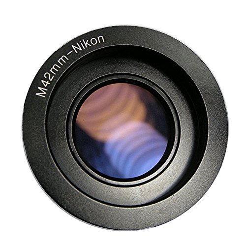 Fairview M42-Nikon M42 lens to Nikon F Mount DSLR SLR Camera Adapter Ring With Glass Infinity Focus Nikon D700 D800 D3100 D3200 D5100 D5200 D5300 D7000 - Stores In Fairview