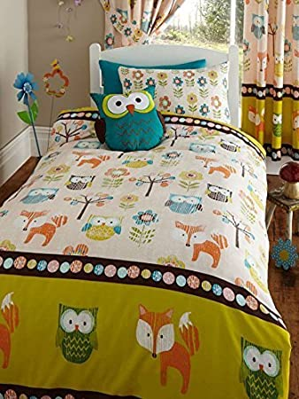 Woodland Creatures Junior Toddler Bed Size Duvet Cover ... : junior bed quilt - Adamdwight.com