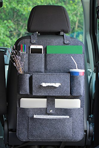 Car Back Seat Organizer with Multi Pocket Felt Lucky Sign-SiPre ()