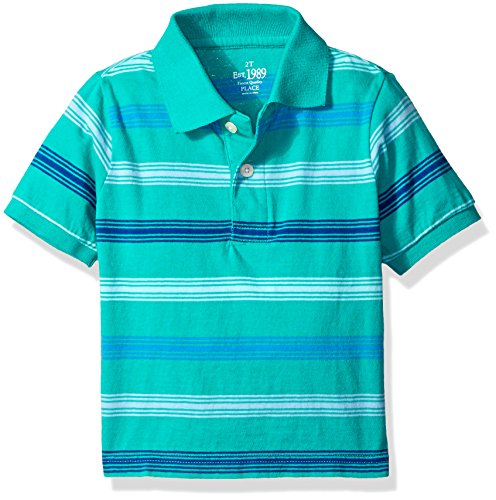 The Children's Place Little Boys and Toddler Multi-Stripe Polo Shirt, Lizard, 3T