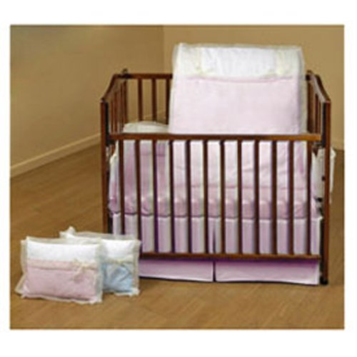 Baby Doll Bedding Classic Bows Cradle Set, Pink 5200cr36