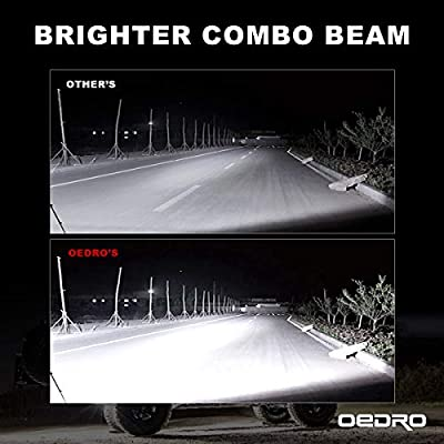LED Light Bar 300W 20Inch Tri-Rows OEDRO LED Light Pod Spot Flood Combo Light + 2pcs 4 Inch 27W Tri-row Light Pod + Driving Lights w/Wiring Harness Fit for Off Road Lights Led Fog Light Truck Boat: Automotive