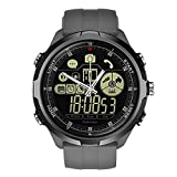 Sunward Zeblaze Vibe 4 Hybrid Bluetooth Waterproof Sports Fitness Tracker Smart Watch Phone Sports Men Smartwatch Compatible with iOS/Android Q5Y8 (Gray)