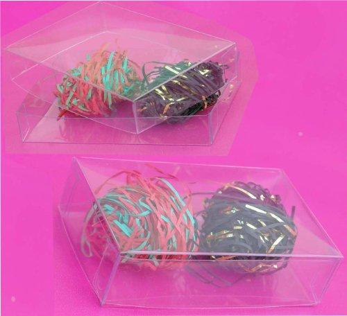 50 PCS 2X2X9 Plastic Box Retail W//Hanghole Display Favor