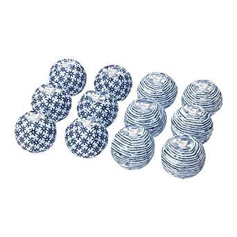 Ikea Solvinden Dekoration Für Lichterkette In Blauweiß Kugeln 12
