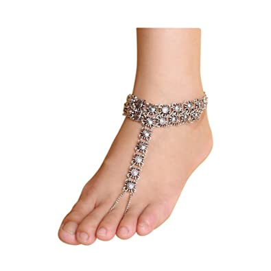 itm foot gold chain anklet sandal beach jewelry unique barefoot women ankle bracelet simple bracelets
