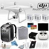 DJI Phantom 4 Quadcopter Bundle: Includes 3 Phantom 4 Batteries, Phantom 4 Backpack, Remote Monitor Hood (For Tablets), SanDisk 64GB Extreme MicroSD Card and more...