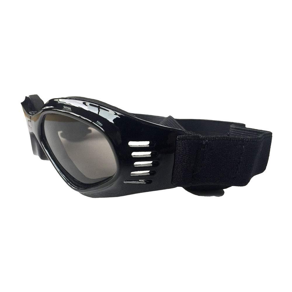 Dog Goggles, Pet Glasses, Collapsible Pet Dog Sunglasses UV Predection Glasses Windproof Sun Pet Supplies,Black