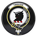 Tenacitee Scottish Clan Crest Badge Tweedie Pinback Button, 1.25'