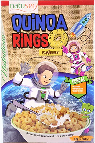 Nutritional Value Pack - QUINOA RINGS SWEET CEREAL - Gluten Free - Great Taste - High Nutritional Value - High Protein Intake - Rich in Amino Acids and Bioactive Compounds - 9.52 Oz.