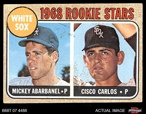 1968 Topps # 287 White Sox Rookies Mickey Abarbanel/Cisco Carlos Chicago White Sox (Baseball Card) Dean's Cards 4 - VG/EX White Sox