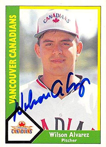 Wilson Alvarez Autographed Baseball Card Vancouver