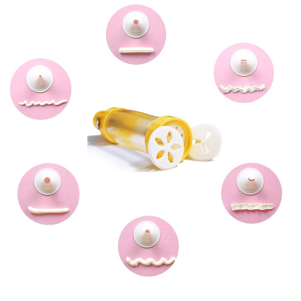 HGHMLIFE Biscuit Presse Bonnes Poign/ées Cookie Cas De Stockage De Presse