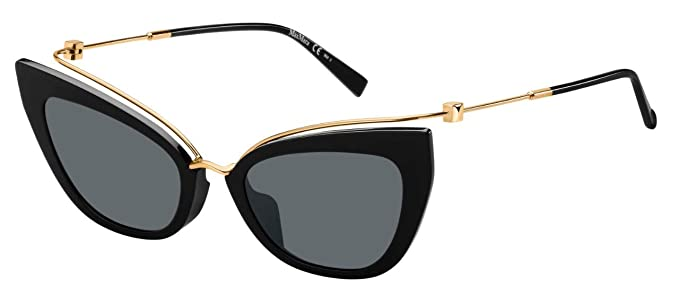 0a2237cf9c3f Amazon.com: Max Mara MM Marilyn/G 2M2 Black/Gold MM MARILYN/G Cats ...