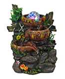 Best Indoor Fountains - Indoor Tabletop Fountain Cascading Water Buckets on Rocks Review