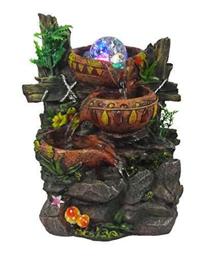 Fountain Water - Indoor Tabletop Fountain Cascading Water Buckets on Rocks